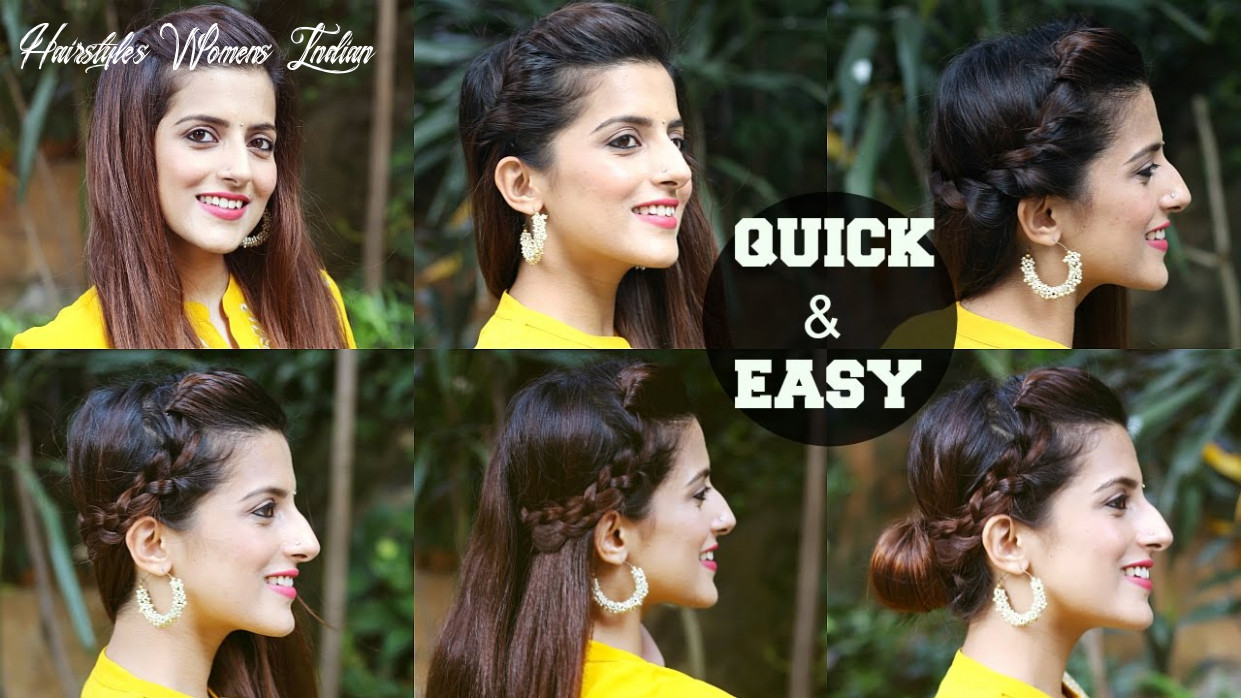 10 quick & easy indian hairstyles for medium to long hair / perfect side hair poof no teasing hairstyles womens indian