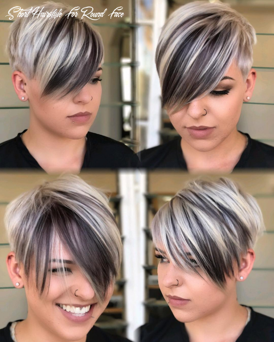 10 short hairstyles for round faces with slimming effect hadviser short hairstyle for round face