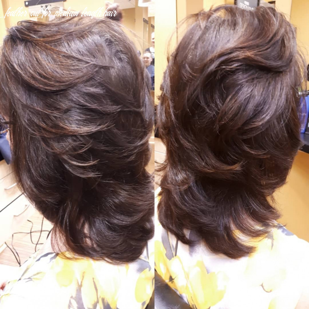 10 truly amazing layered haircut ideas to add to your hair goals feather cut for medium length hair