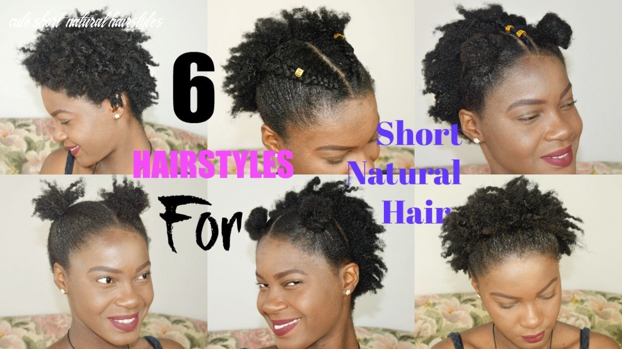 11 quick & easy everyday natural hairstyles for short / medium / twa natural hair || thegennybeauty cute short natural hairstyles