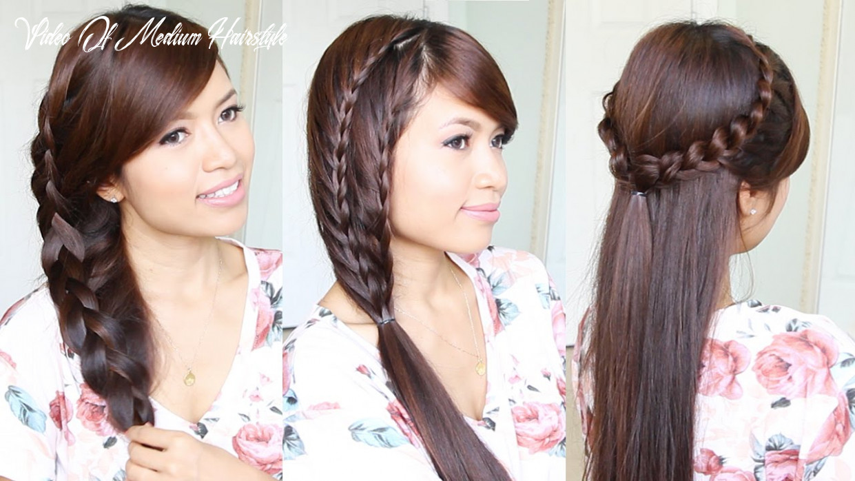 12 cute & easy summer hairstyles for medium to long hair video of medium hairstyle