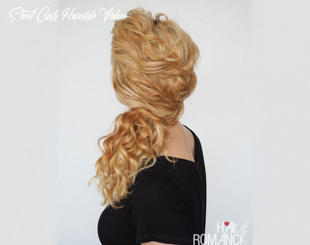 12 easy and cute hairstyles for curly hair   southern living short curly hairstyle videos