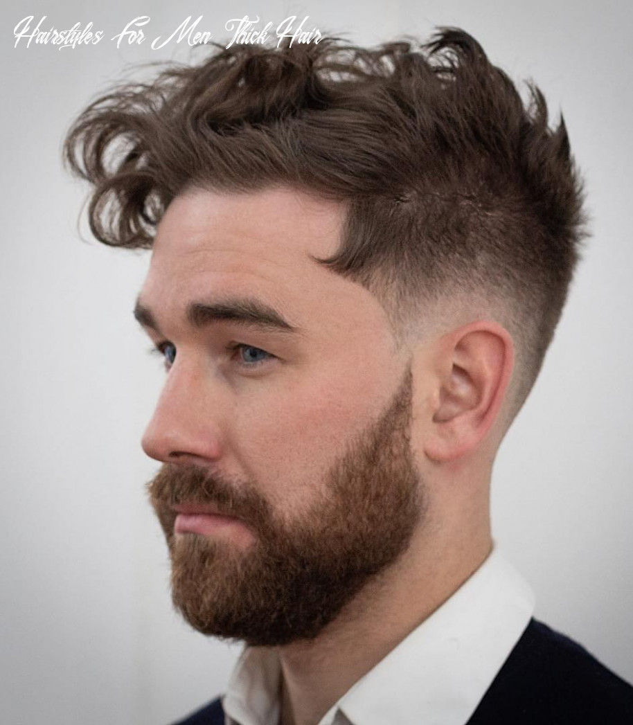12 haircuts for men with thick hair (high volume) hairstyles for men thick hair