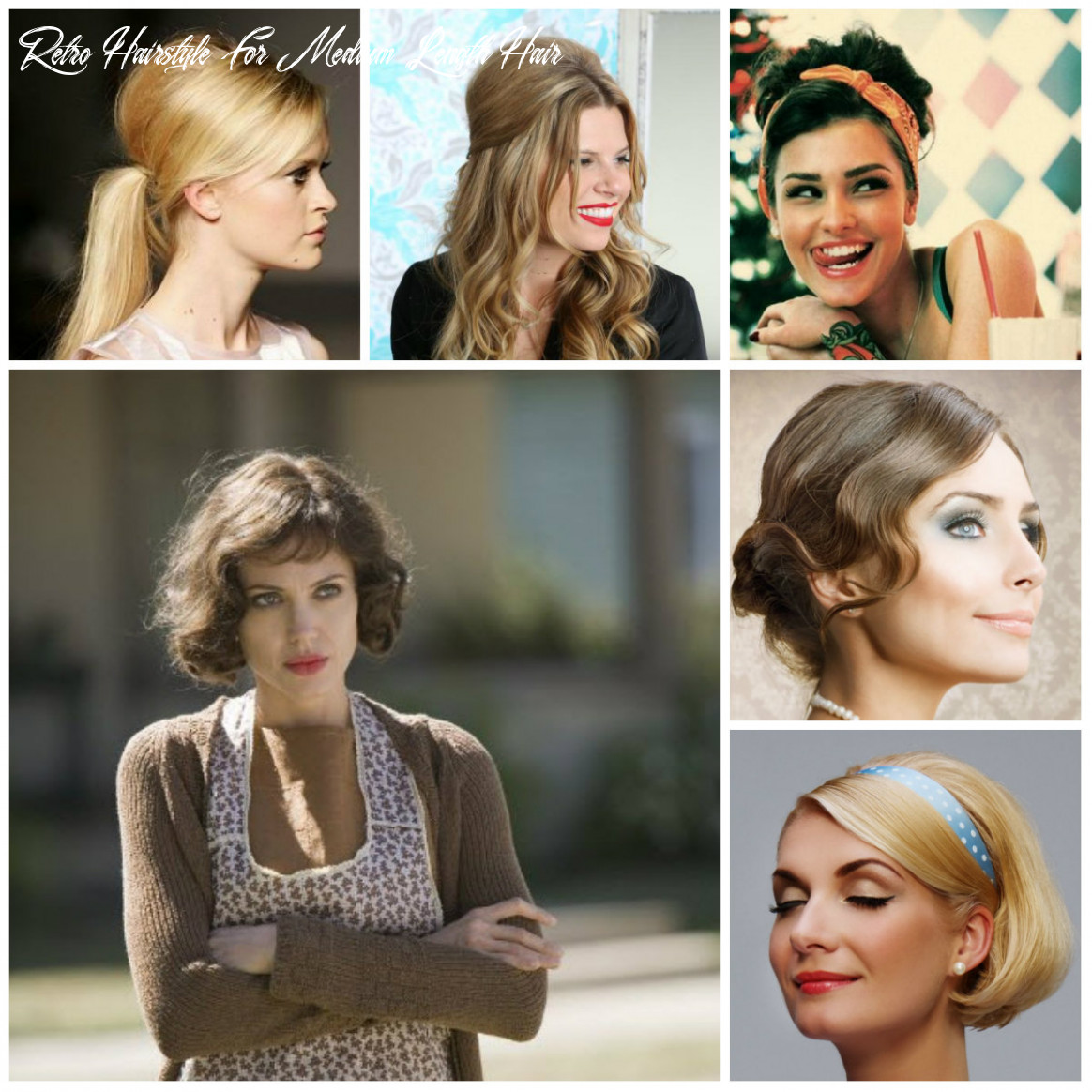 12 retro hairstyles for shoulder length hair 12 retro hairstyle for medium length hair