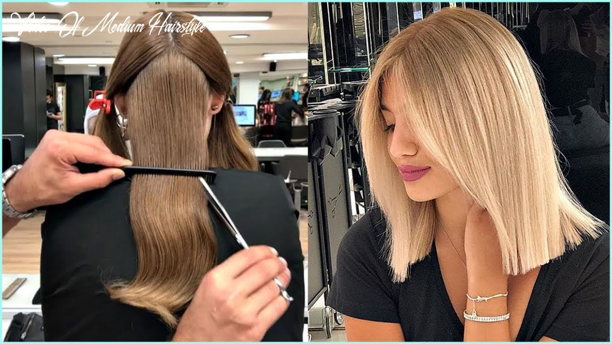 12 short and medium haircuts for women ?haircut and color transformation video of medium hairstyle