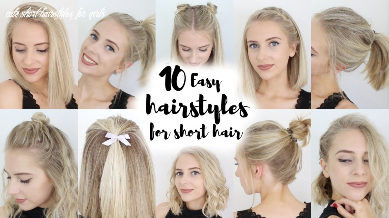 8 easy hairstyles for short hair cute short hairstyles for girls