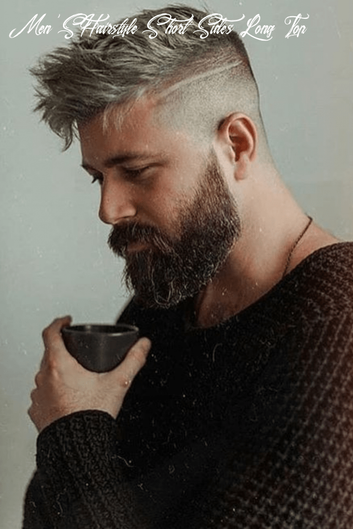8 trendy short sides long top hairstyles (with images) | mens