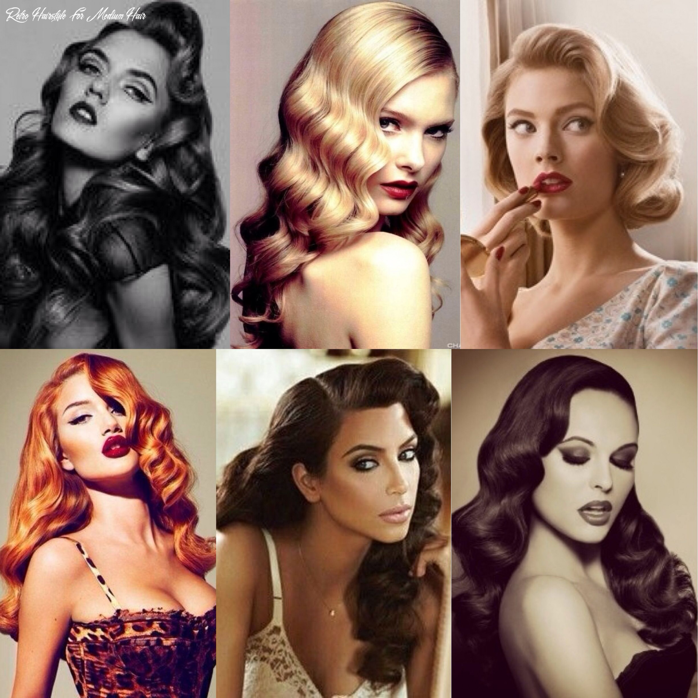 8 vintage hairstyles with tutorials for you to try   wavy