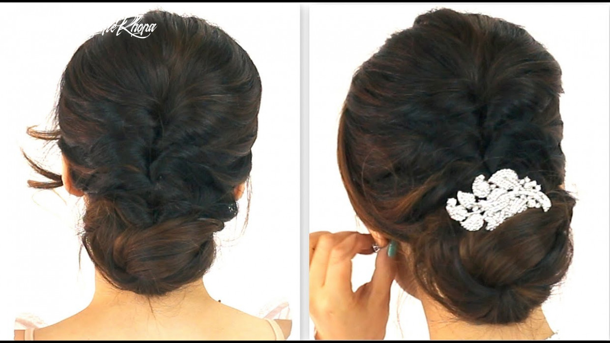 ★ 8min easiest party updo | everyday braided bun prom hairstyles for medium long hair tutorial short hairstyle khopa