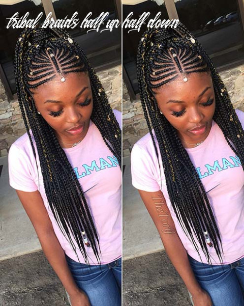 9 badass tribal braids hairstyles to try | page 9 of 9 | stayglam tribal braids half up half down