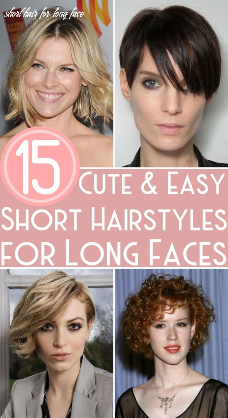 9 cute & easy short hairstyles for long faces short hair for long face