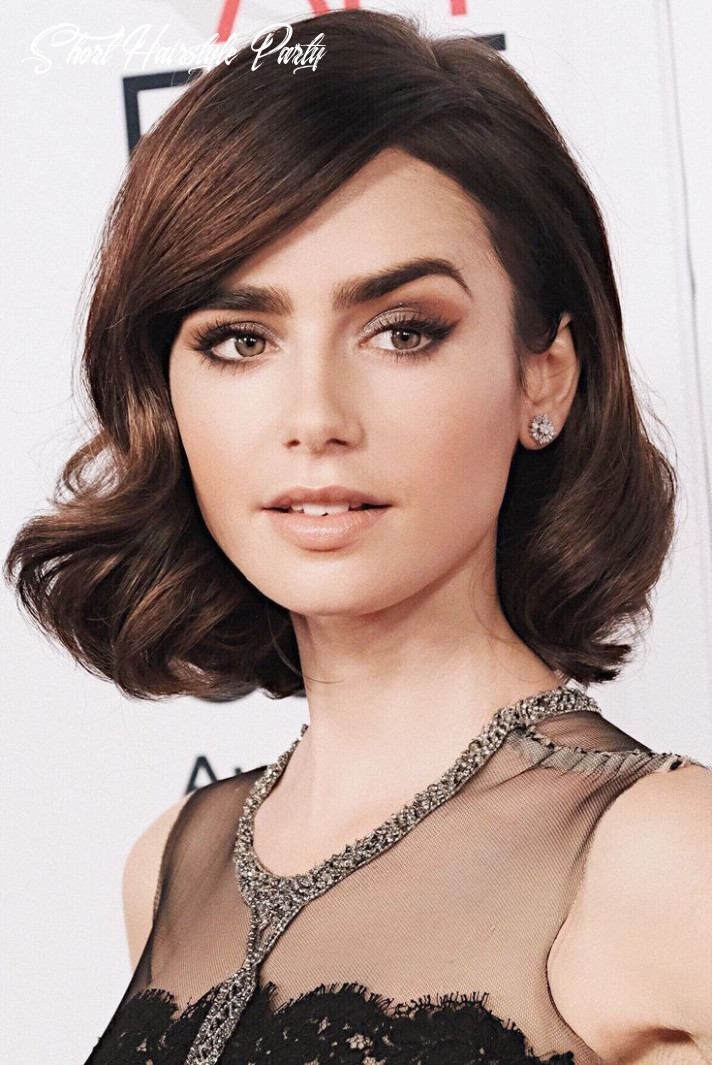 9 glamour short hairstyle idea for women in party   frisuren
