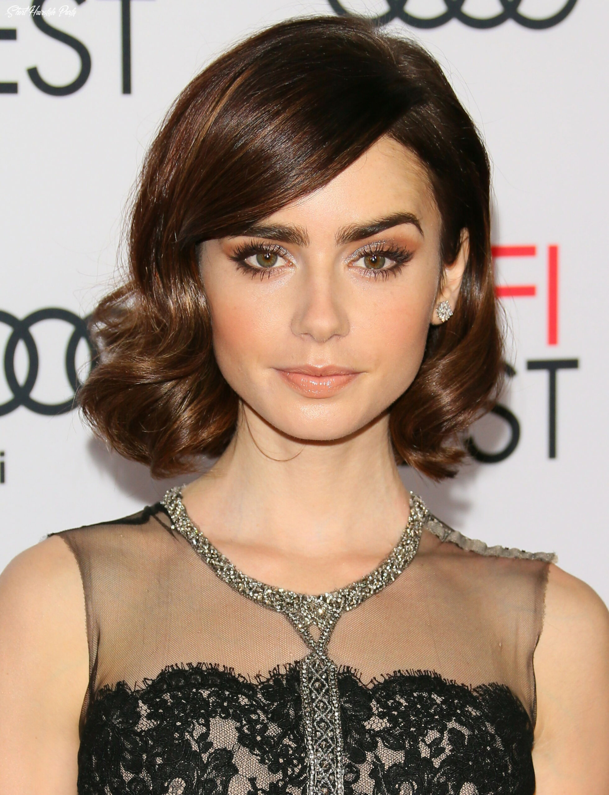 9 glamour short hairstyle idea for women in party   styling