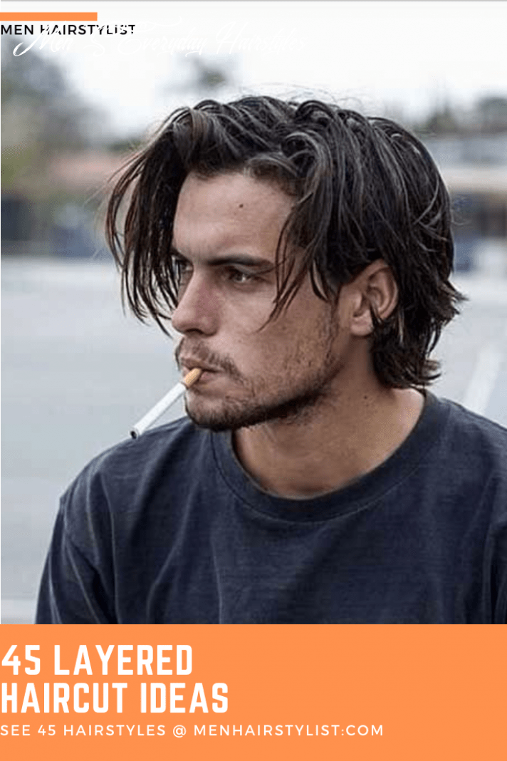 9 layered haircuts for men with layered personalities   long hair