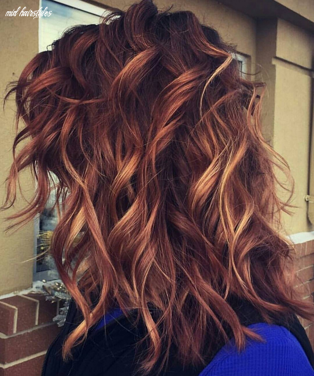 9 medium long hairstyles for thick hair in super beautiful colors