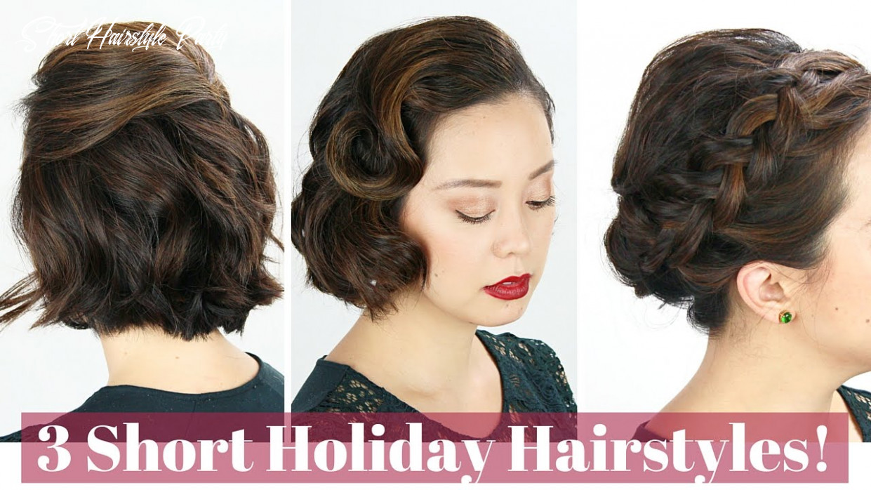 9 short hair holiday hairstyles! short hairstyle party