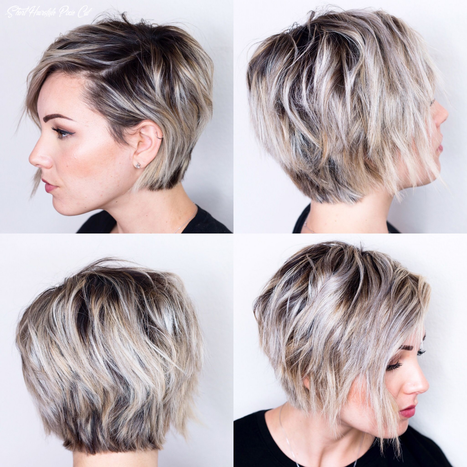 9 view of short hair | oval face hairstyles, growing out short