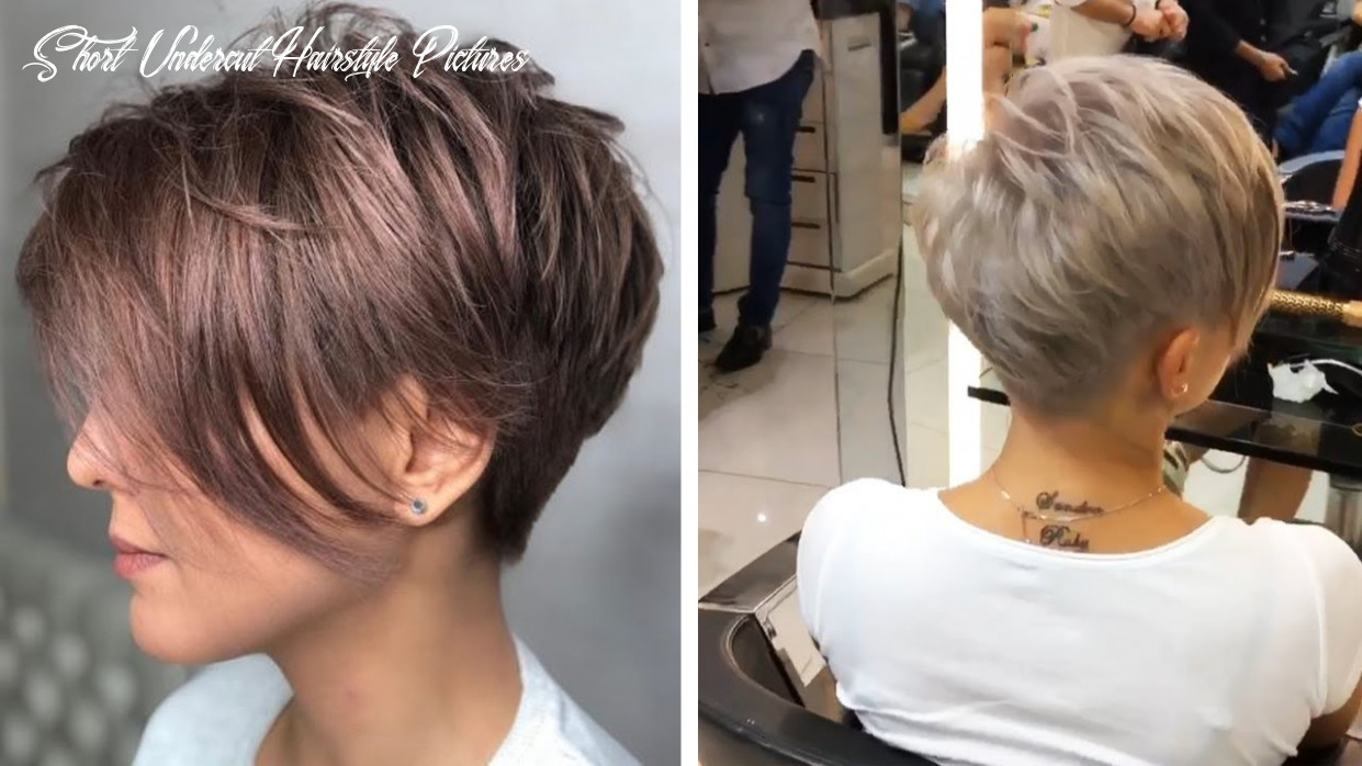 Amazing feathered pixie with nape undercut 10   love pixie haircut   hottest haircut compilation short undercut hairstyle pictures