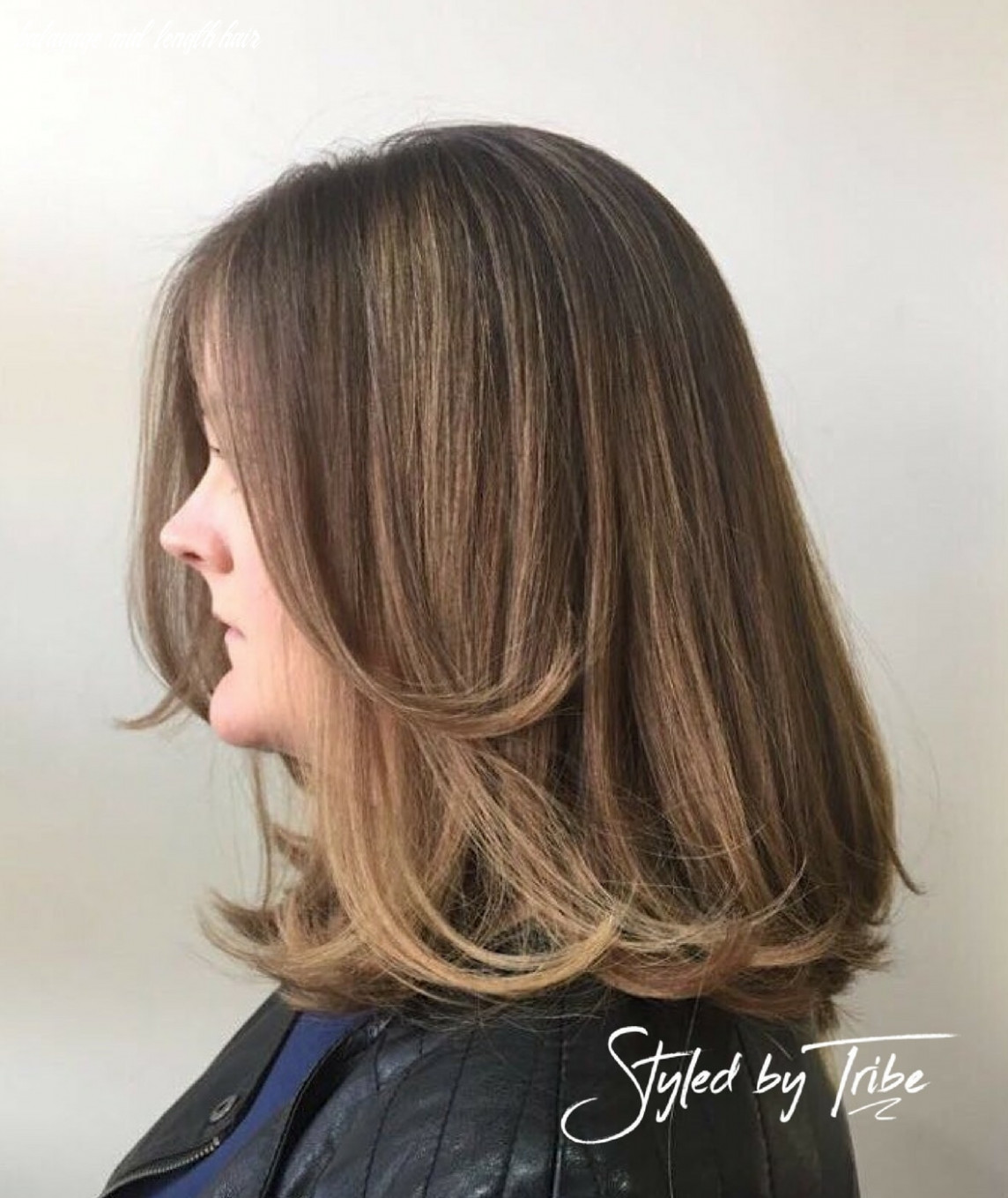Balayage & mid length cut | styled by danielle tribe hair salon balayage mid length hair