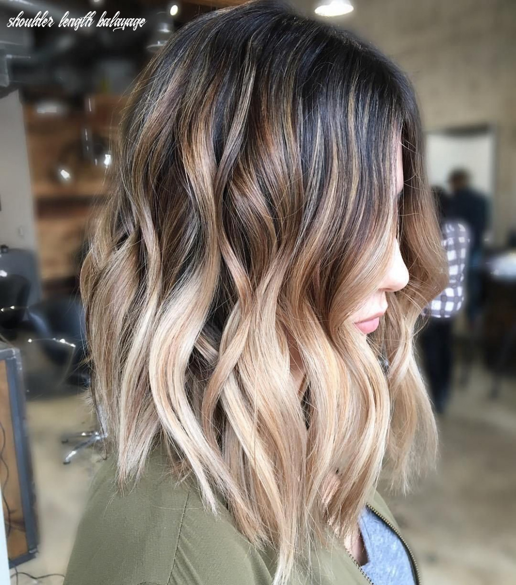 Balayage ombre hair styles for shoulder length hair | hair color
