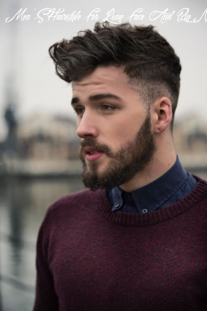 Best hairstyle for long face and big nose | beard styles for men