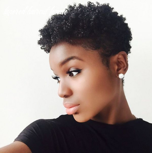 Best tapered natural hairstyles for afro hair (9) tapered haircut female