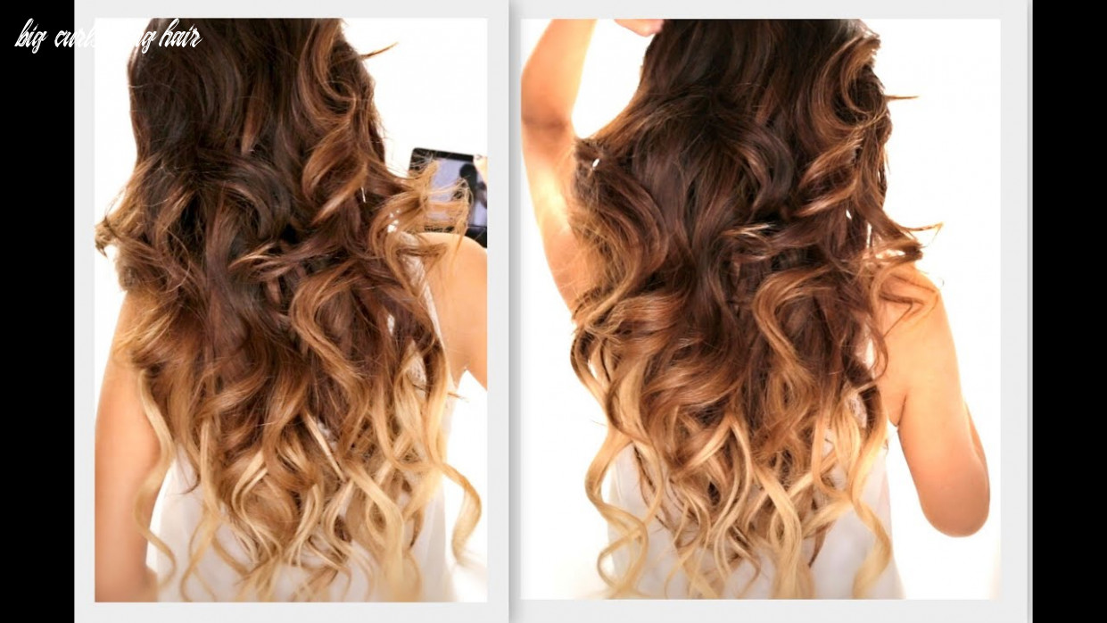★ big fat voluminous curls hairstyle   how to soft curl   ombre hairstyles big curls long hair