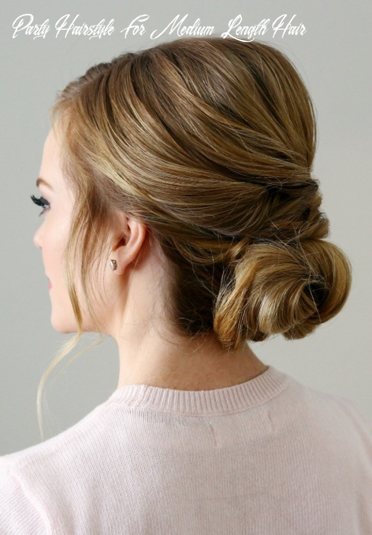 Christmas party hairstyles for medium length hair party hairstyle for medium length hair