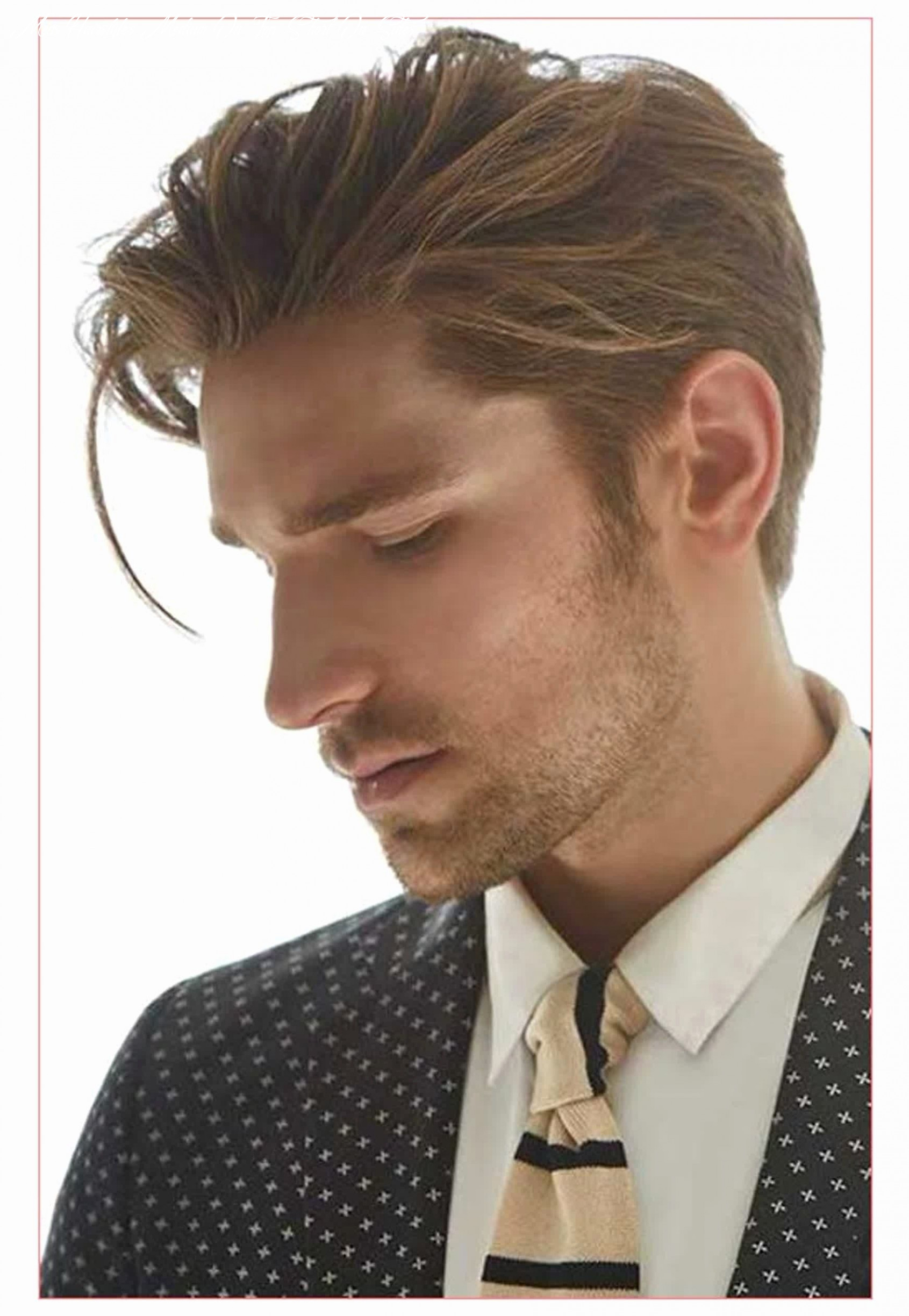 Completely new mens hairstyle long on top short on sides | mens