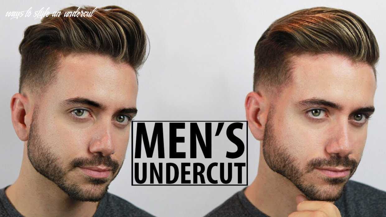 Disconnected undercut haircut and style tutorial   10 easy undercut hairstyles for men   alex costa ways to style an undercut