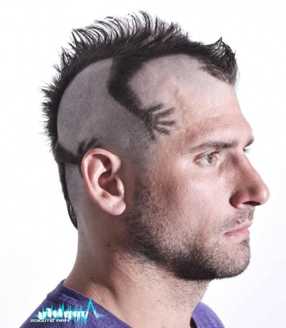 Funky mens mohawk haircut style – men hairstyle trend   mohawk