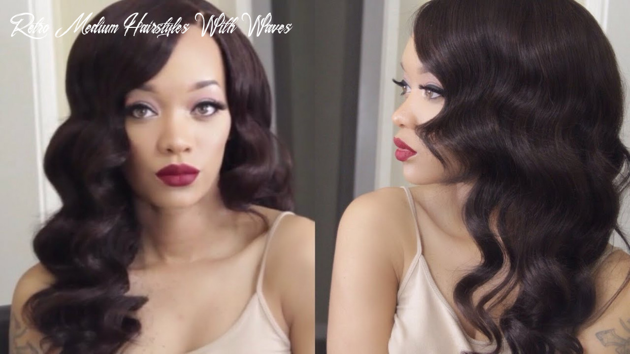 Hair   old hollywood waves tutorial   ev beauty curling wand retro medium hairstyles with waves