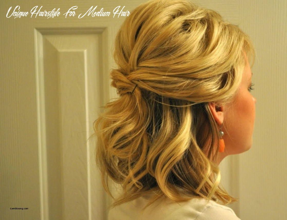 Half updo hairstyles for shoulder length hair unique updos for