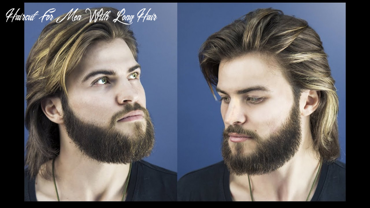 How to cut and style long hair for men collar length sweep back haircut for men with long hair