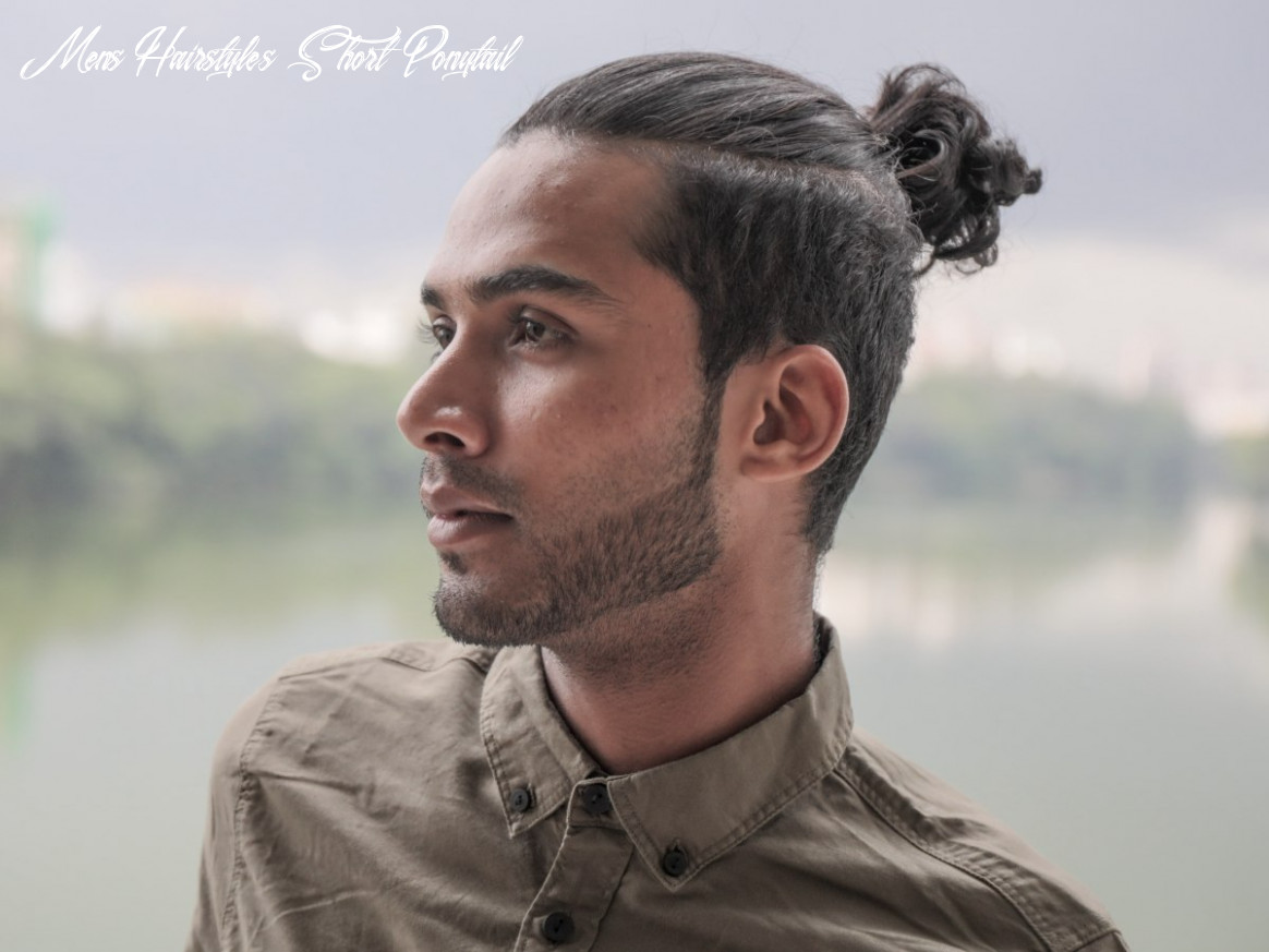 How to fake short hair for men with long hair mens hairstyles short ponytail