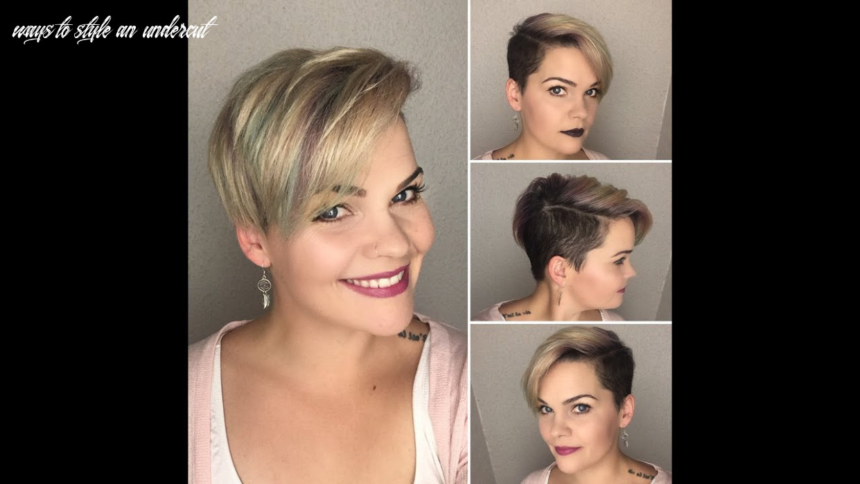 How to style a undercut pixie   design me hair & pinkpewter ways to style an undercut