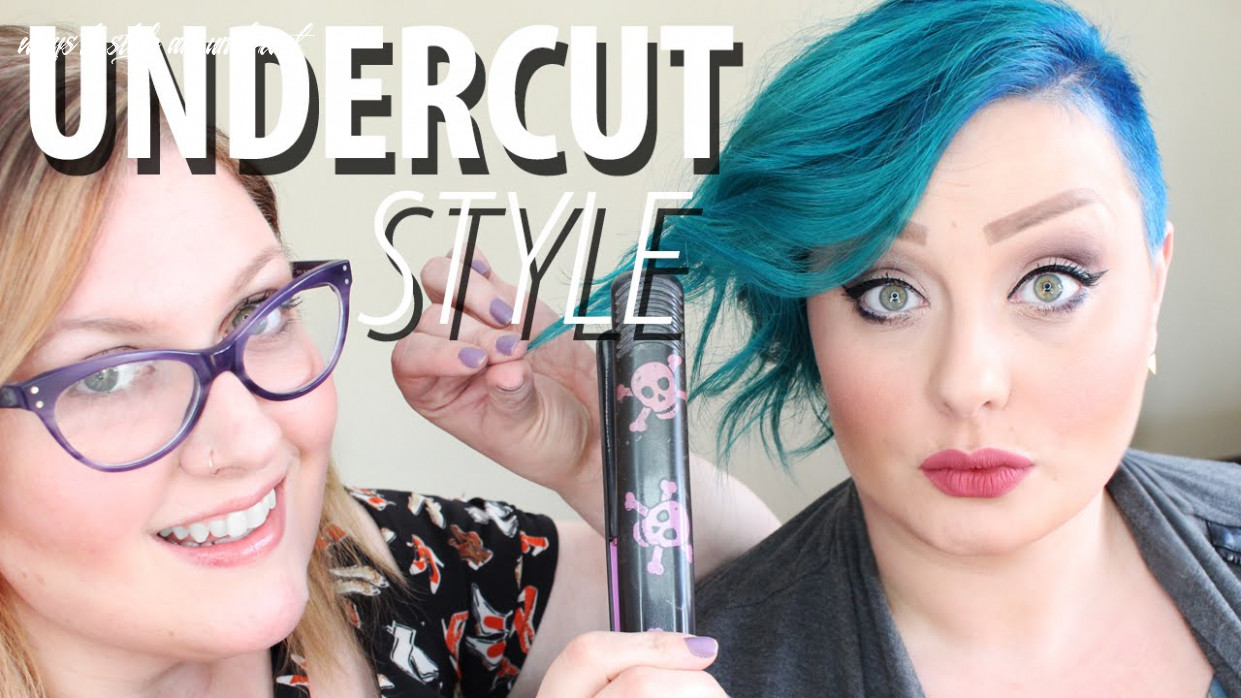 How to style an undercut   hairstyle for women ways to style an undercut
