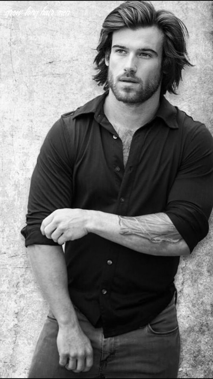 Just life style™®: how men can easily grow long hair model will