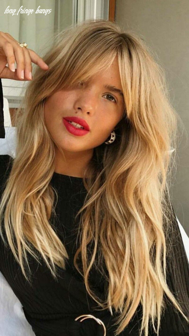 Long bangs and wavy hair (with images)   long fringe hairstyles
