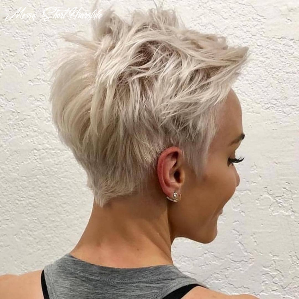 Messy pixie haircuts to refresh your face, women short hairstyles 11 messy short hairstyle