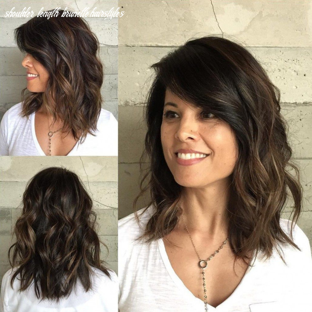 Pin on great hair shoulder length brunette hairstyles