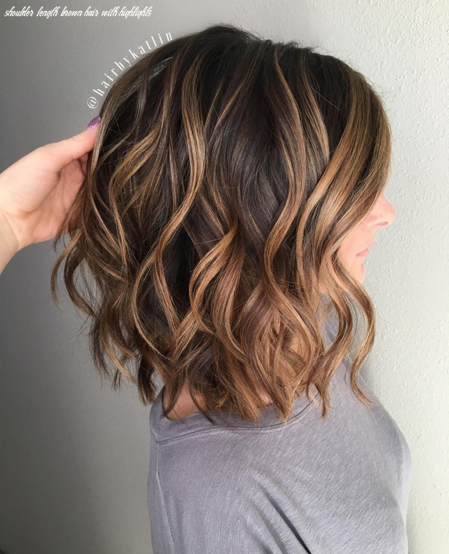 Pin on hairstyle shoulder length brown hair with highlights