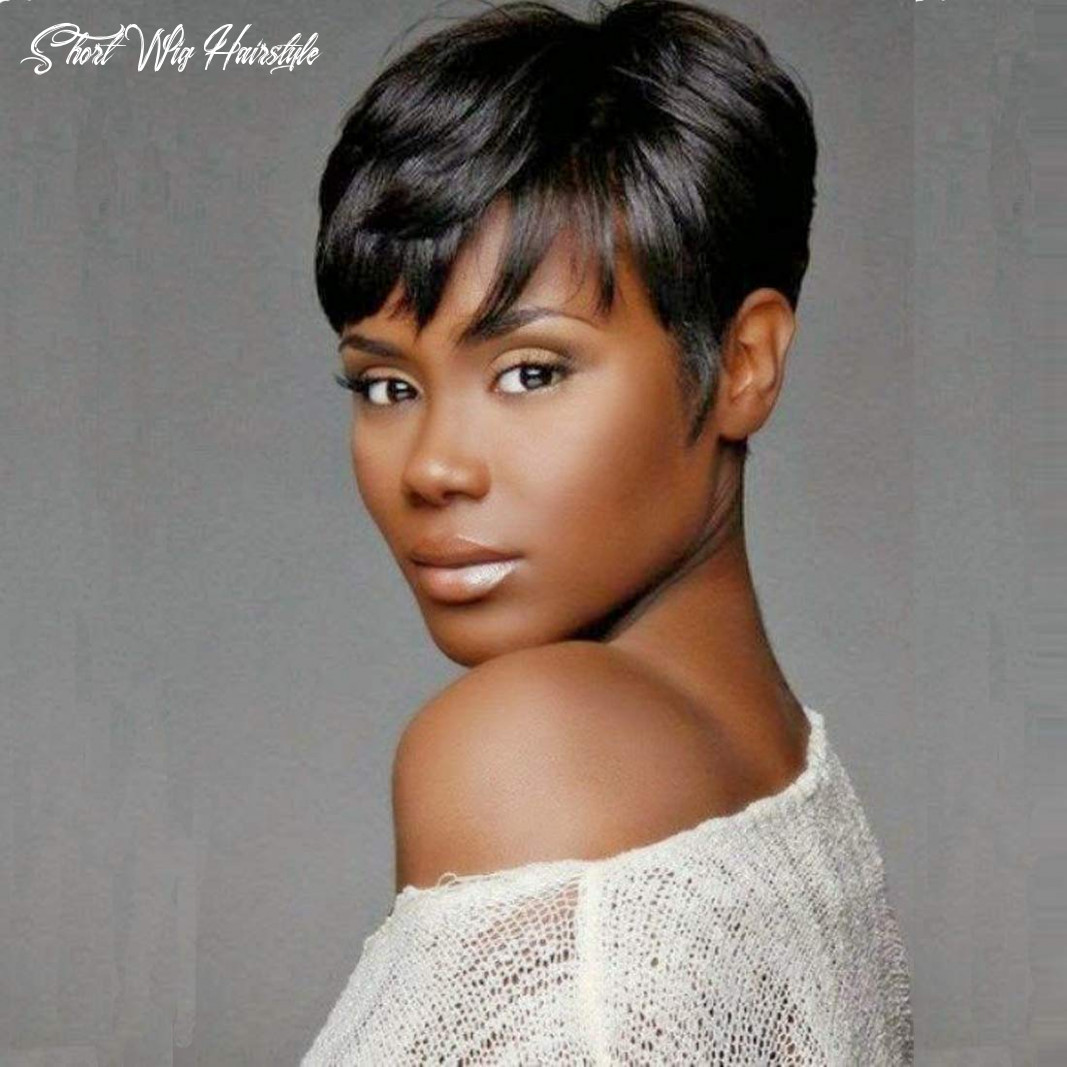Ruisenna human hair short wigs pixie cut wigs for black women short black glueless wigs for african american short wig hairstyle