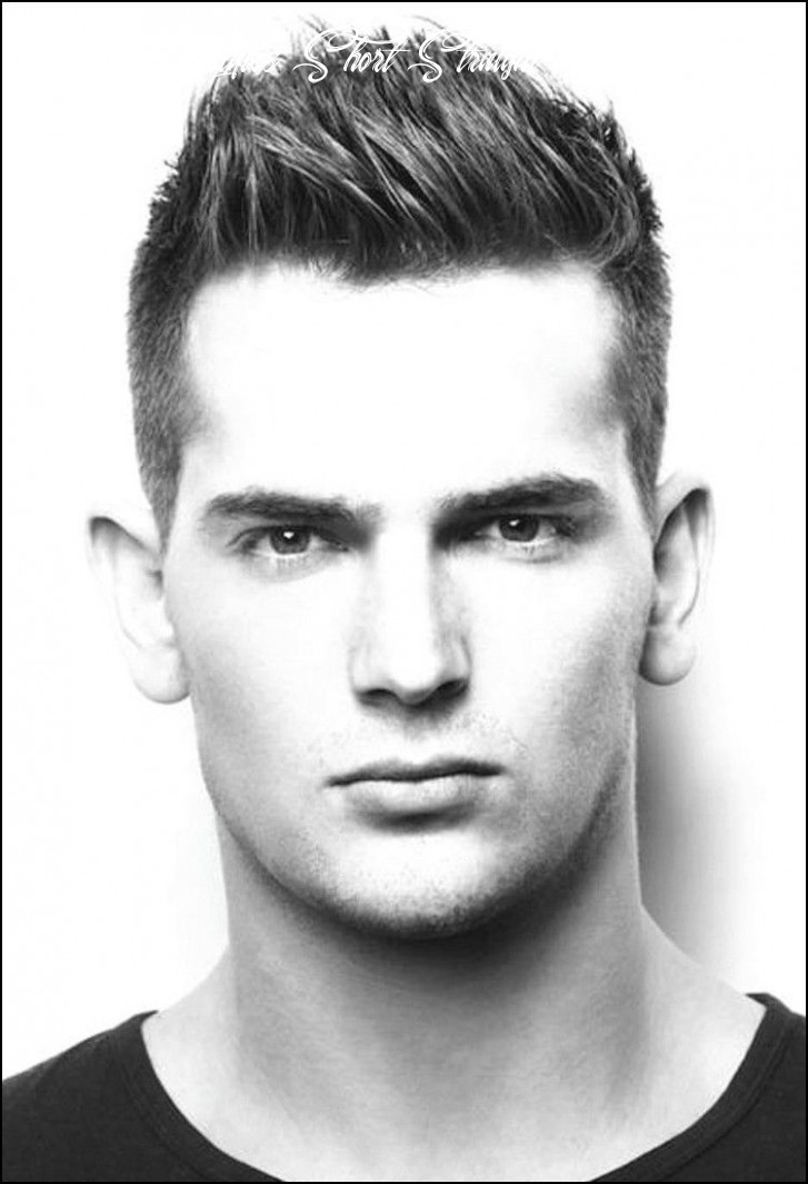 Short haircuts for men with thick straight hair | trendy short