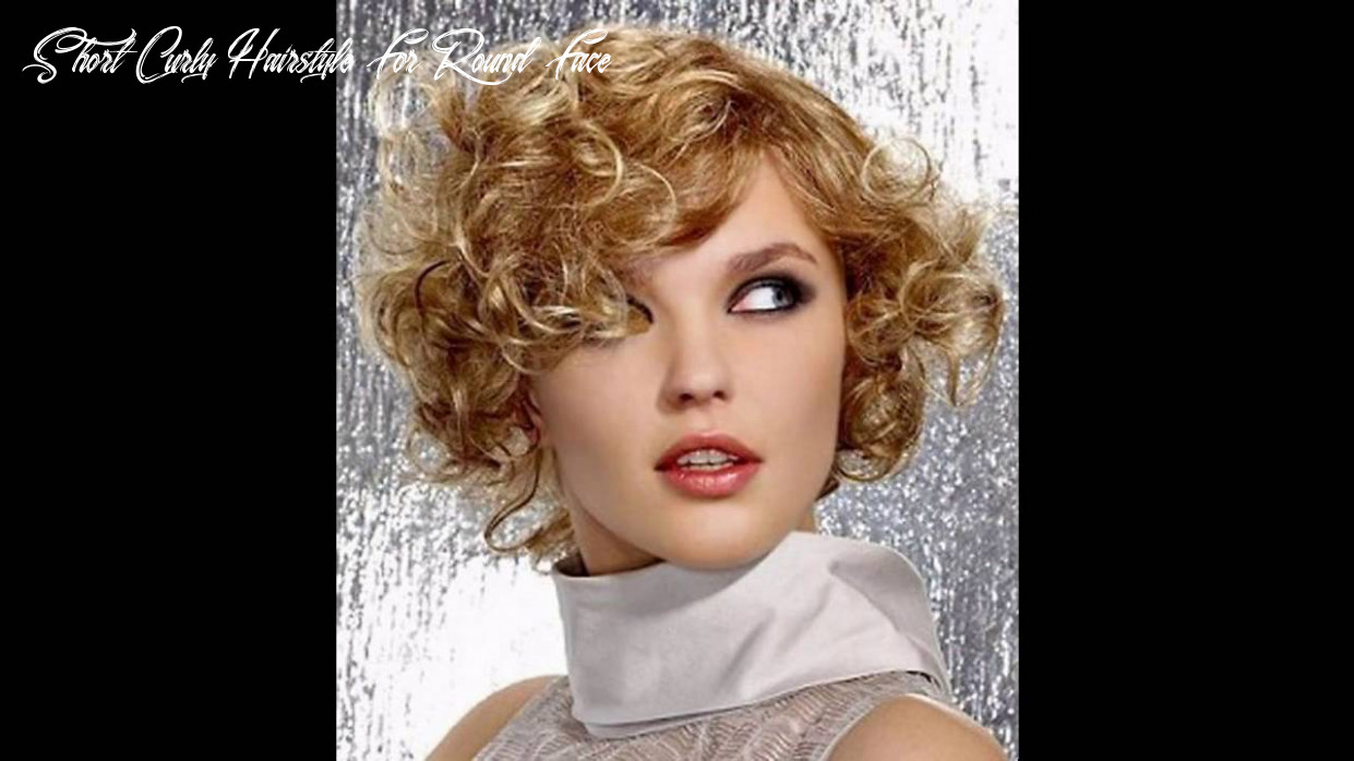 Short hairstyle for curly hair round face youtube short curly hairstyle for round face