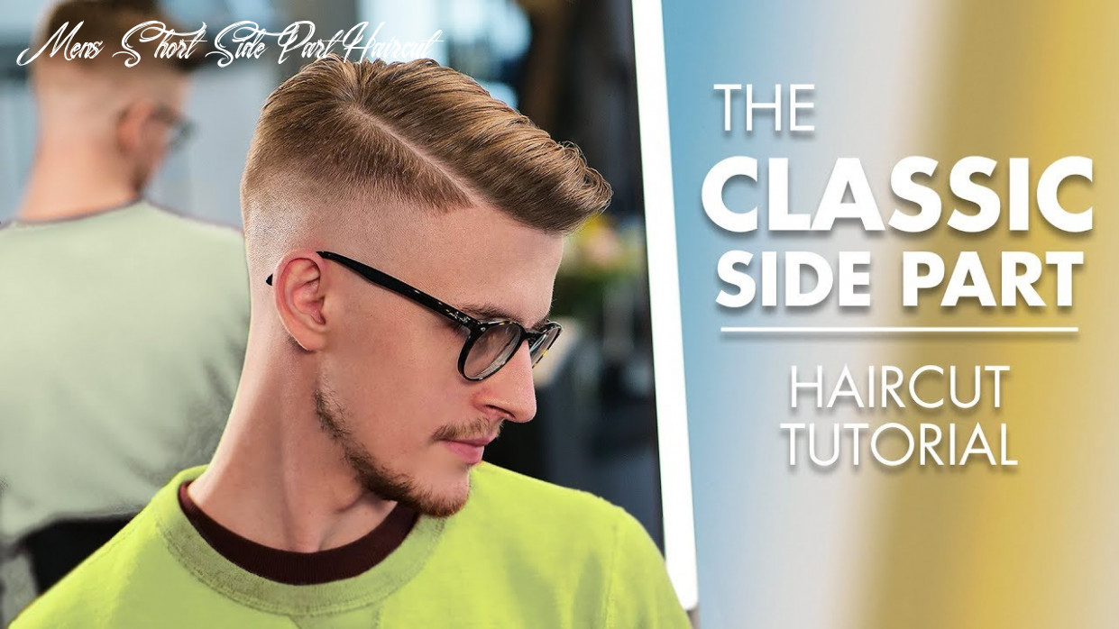 Short hairstyle side part haircut with machine and scissor mens short side part haircut