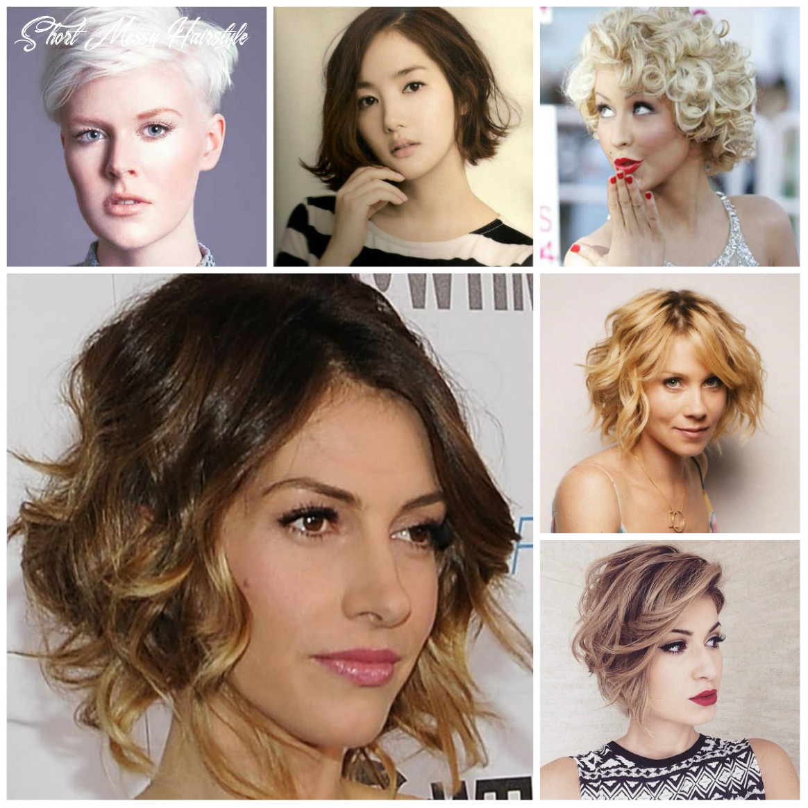 Short messy hairstyle inspiration for 12 | 12 haircuts