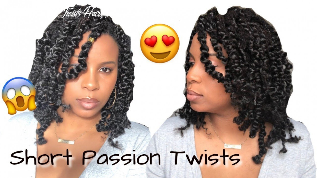 Short passion twists over locs | rubber band method | step by step tutorial short passion twists hairstyle