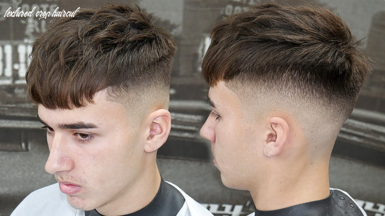 Simple haircut tutorial: how to do a mid skin fade with a textured crop    best haircut 9 textured crop haircut
