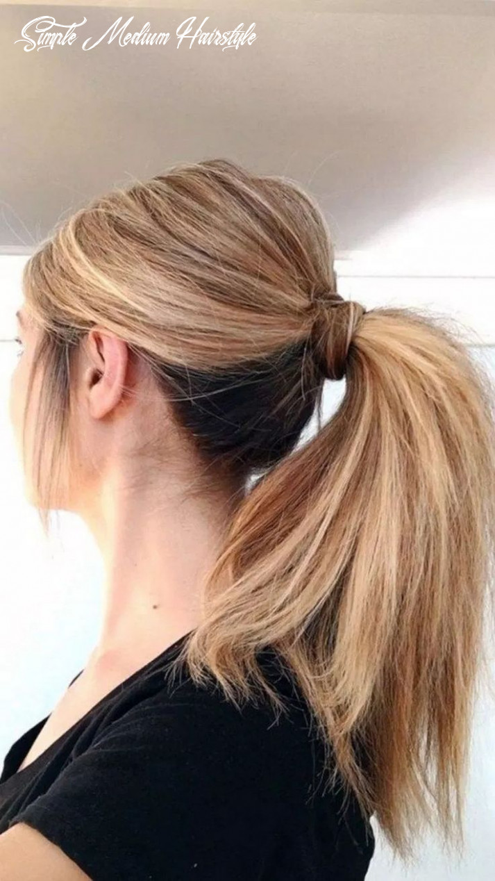 Simple hairstyles for medium hair in pony on stylevore simple medium hairstyle